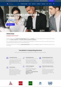 Website Design for Frenchside in Pretoria by WebzDesign.co.za