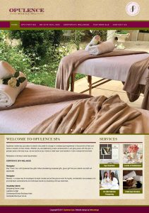 Website Design for Opulence Spa in Pretoria by WebzDesign.co.za