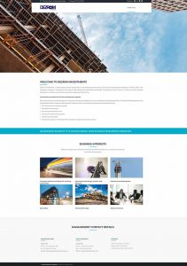 Website Design for Dezrom Investment in Pretoria by WebzDesign.co.za